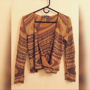 Missoni vintage knit v-neck / wrap top